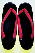 Traditional Japanese wooden footwear called geta
