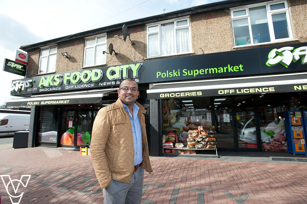 Pictured is postmaster Anand Soori<br /> <br /> Waller Avenue Post Office, Luton<br /> <br /> March 27, 2015