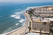 Ventura Beach and the Crowne Plaza Hotel