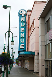 4th Avenue Theatre sign, downtown, Anchorage, Alaska, United States of America