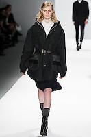 Julia Nobis walks the runway wearing Richard Chai during Mercedes-Benz Fashion Week in New York on February 9, 2012