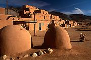 NATIVE AMERICANS, PUEBLO Taos Pueblo, near Taos, New Mexico