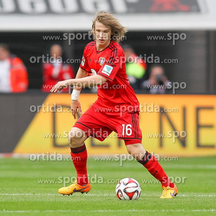 02.05.2015, BayArena, Leverkusen, GER, 1. FBL, Bayer 04 Leverkusen vs FC Bayern Muenchen, 31. Runde, im Bild Tin Jedvaj (Bayer 04 Leverkusen #16) // during the German Bundesliga 31th round match between Bayer 04 Leverkusen and FC Bayern Munich at the BayArena in Leverkusen, Germany on 2015/05/02. EXPA Pictures &copy; 2015, PhotoCredit: EXPA/ Eibner-Pressefoto/ Sch&uuml;ler<br /> <br /> *****ATTENTION - OUT of GER*****