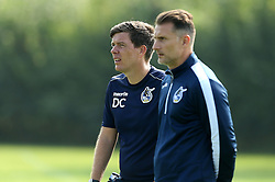 Darrell Clarke manager of Bristol Rovers and Coach Chris Hargreaves oversee training - Mandatory by-line: Robbie Stephenson/JMP - 15/09/2016 - FOOTBALL - The Lawns Training Ground - Bristol, England - Bristol Rovers Training