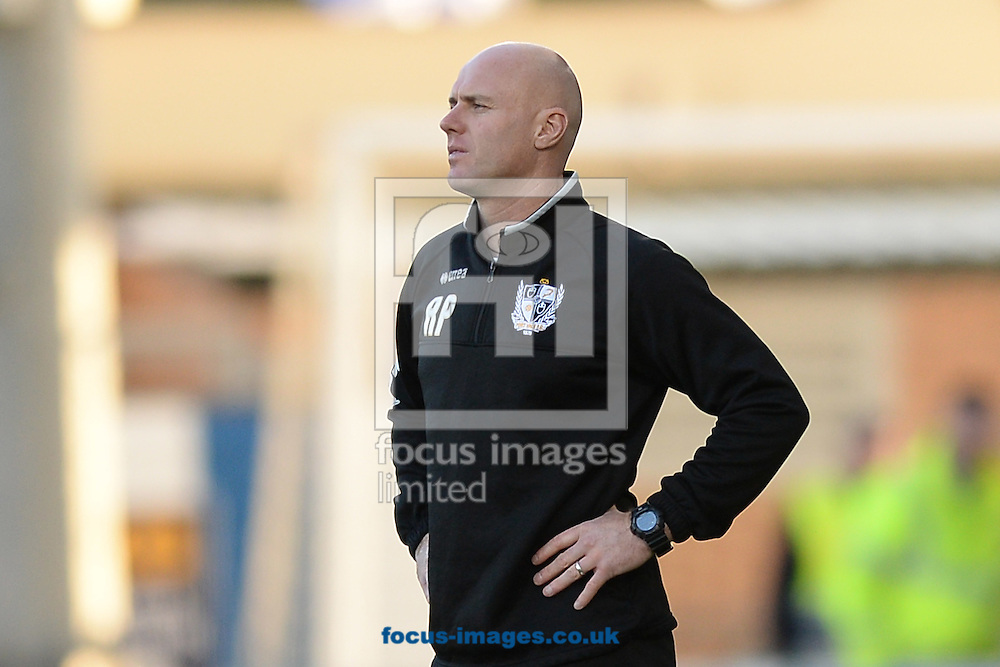 New Port Vale Manager Robert Page looks-on during the Sky Bet League 1 match between Colchester United and Port Vale at the Weston Homes Community Stadium, Colchester<br /> Picture by Richard Blaxall/Focus Images Ltd +44 7853 364624<br /> 01/11/2014
