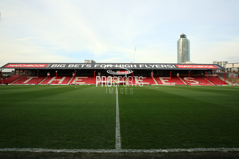 Griffin Park during the Sky Bet Championship match between Brentford and Huddersfield Town at Griffin Park, London, England on 19 December 2015. Photo by Matthew Redman.
