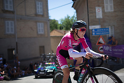 Hannah Barnes (GBR) of CANYON//SRAM Racing rides near the top of the final climb of Stage 5 of the Giro Rosa - a 12.7 km individual time trial, starting and finishing in Sant'Elpido A Mare on July 4, 2017, in Fermo, Italy. (Photo by Balint Hamvas/Velofocus.com)