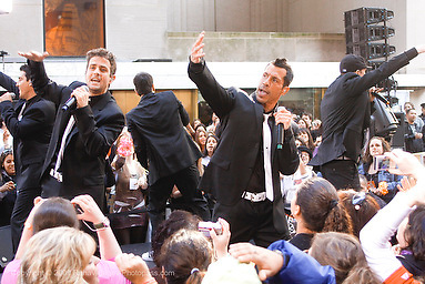 New Kids on the Block appear on The Today Show at Rockefeller Center on May 8,2009. New York, NY. .l-r  Joey McIntyre and Danny Wood.Photo Credit ; Rahav Segev/Retna