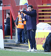 Dundee manager Paul Hartley - Motherwell v Dundee, SPFL Premiership at Fir Park<br /> <br />  - &copy; David Young - www.davidyoungphoto.co.uk - email: davidyoungphoto@gmail.com