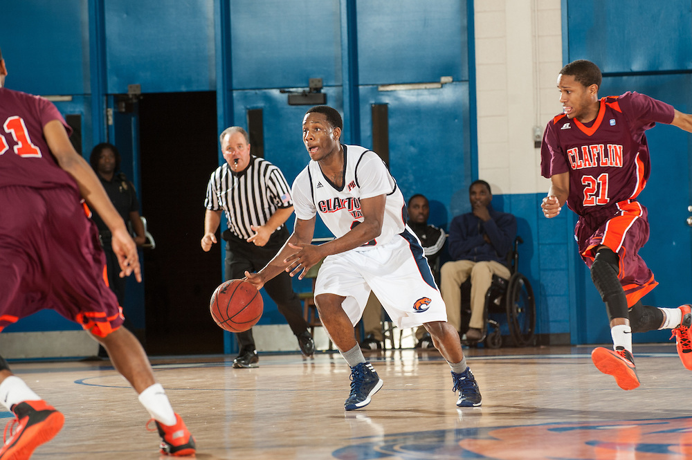Nov. 23, 2013; Morrow, GA, USA; Clayton State player guard Sirdarius Henry during game against Claflin at Clayton State. Photo by Kevin Liles / kevindliles.com