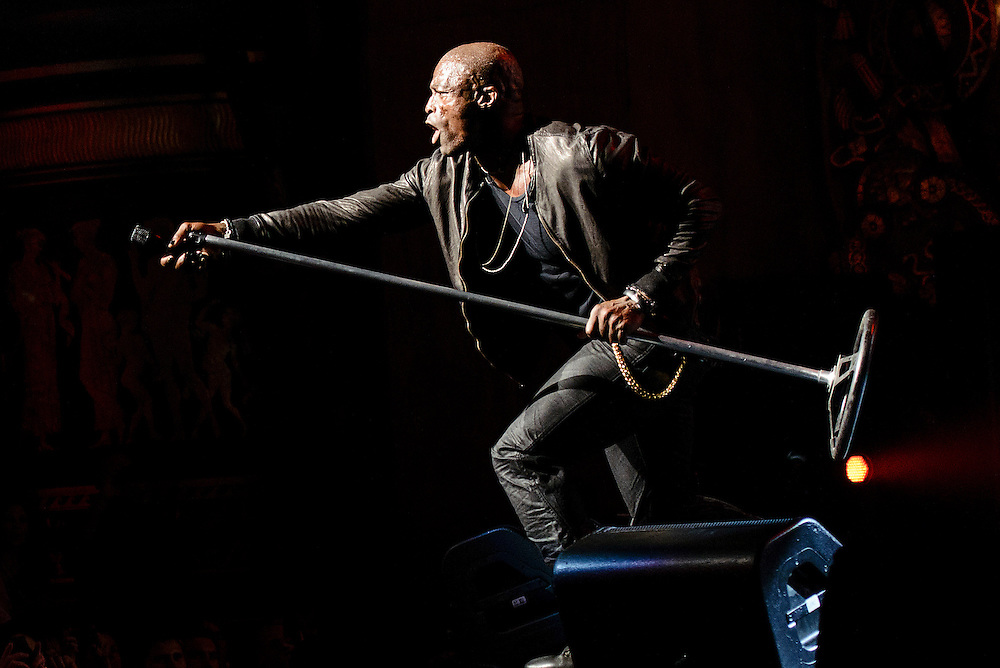 Photos of British musician Seal performing at Beacon Theatre, NYC. July 17, 2012. Copyright © 2012 Matthew Eisman. All Rights Reserved.