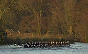 18/12/2002.Sport - Rowing.2003 Women's Boat Race.Cambridge Womens Boat Club Trail Eights Henley Reach
