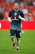 Picture by Andrew Tobin/Focus Images Ltd +44 7710 761829<br /> 14/08/2013<br />  Wayne Rooney of England looks on during warm up during the International Friendly match at Wembley Stadium, London.