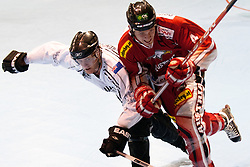 James TREVENA-BROWN of New Zeland vs Mario ALTMANN of Austria at IIHF In-Line Hockey World Championships 2011 Division 1 quarter final match between National teams of Austria and New Zeland on June 23, 2011, in Pardubice, Czech Republic. (Photo by Matic Klansek Velej / Sportida)