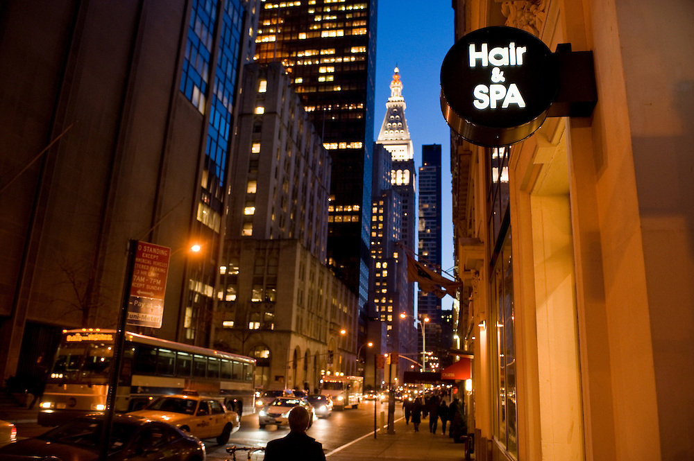 Hair Twenty Four, beauty salon and spa in Manhattan, New York, corner of Madison Avenue and 28th street, owner Kim Jihee from Korea