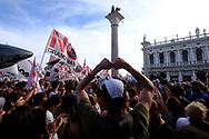 Venezia - 08/06/2019. I veneziani manifestano contro le Grandi Navi dopo l'incidente avvenuto in laguna il 2 giugno.