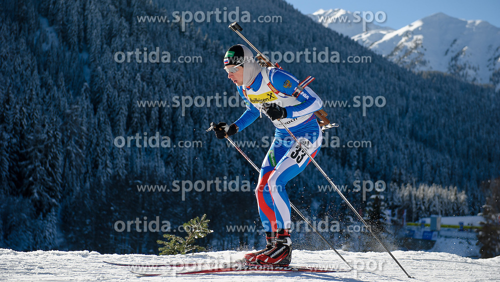 26.01.2013, Biathlonzentrum, Obertilliach AUT, IBU, Jugend und Junioren Weltmeisterschaften, Sprint Junioren Maenner, im Bild Maxim Tsvetkov (RUS) // Maxim Tsvetkov from Russia during the Junior Men Sprint of IBU Youth  and Juniors World Championships at Biathloncenter, Obertilliach, Austria on 2013/01/26 . EXPA Pictures © 2013, PhotoCredit: EXPA/ Michael Gruber