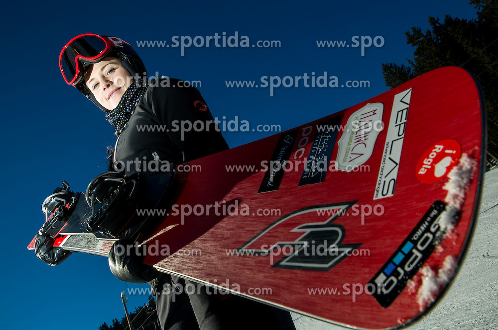 Gloria Kotnik during training of Snowboarding Team Slovenia prior to the 2015 FIS Freestyle Ski and Snowboard World Championships in Kreischberg (AUT) on January 13, 2015 in Rogla, Slovenia. Photo by Vid Ponikvar / Sportida