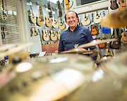 General Manager Clarence Berry poses for a portrait at Allegro Music in Fremont, California, on April 16, 2014. (Stan Olszewski/SOSKIphoto)