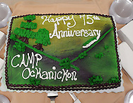 The cake awaits cutting during Ockanickon Scout Reservation's 75th anniversary celebration Saturday, June 18, 2016 in Pipersville, Pennsylvania.   (Photo by William Thomas Cain)