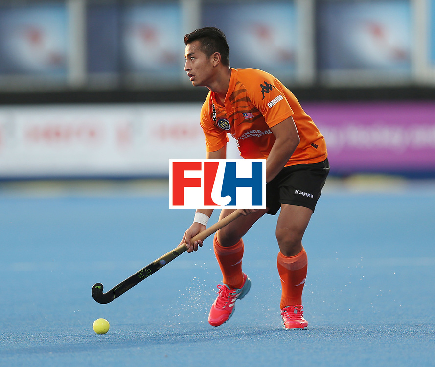 LONDON, ENGLAND - JUNE 16:  Firhan Ashari of Malaysia during the Hero Hockey World League semi final match between Argentina and Malaysia at Lee Valley Hockey and Tennis Centre on June 16, 2017 in London, England.  (Photo by Alex Morton/Getty Images)