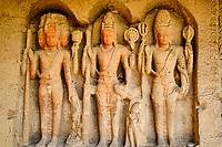 Inde, état de Maharashtra, Ellora, grottes d'Ellora classées au Patrimoine mondial de l'UNESCO, grotte N°27 // India, Maharashtra, Ellora cave temple, Unesco World Heritage, cave N°27