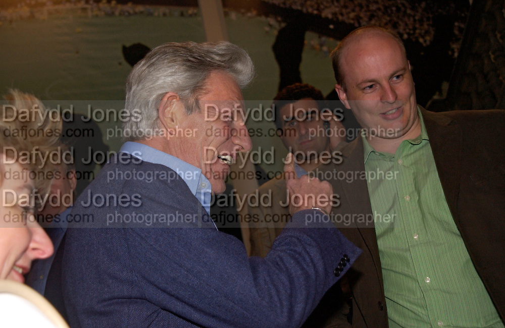the Earl of Lichfield, Fifa 100 private view, Exhibition of photographs of the 125 greatest living players.  Royal Academy, 1 June 2004. ONE TIME USE ONLY - DO NOT ARCHIVE  © Copyright Photograph by Dafydd Jones 66 Stockwell Park Rd. London SW9 0DA Tel 020 7733 0108 www.dafjones.com