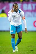 ARNHEM, Vitesse - PSV, voetbal Eredivisie seizoen 2014-2015, 17-01-2015, Stadion de Gelredome, PSV speler Georginio Wijnaldum coacht zijn medespelers.