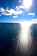 Sailboat in large ocean