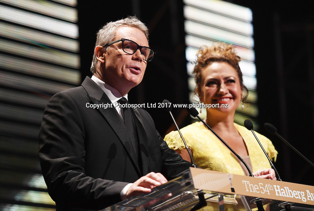 Eric Young and Melodie Robinson.<br /> The 54th Halberg Awards in support of the Halberg Disability Sport Foundation. Vector Arena, Auckland, New Zealand. Thursday 9 February 2017. &copy; Copyright photo: Andrew Cornaga / www.photosport.nz