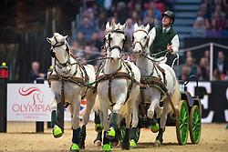 Naprous Daniel, GBR, Amigo Don, Nilus, Rialto Fzav Claricia, Viktor <br /> FEI World Cup Driving Leg presented by Dodson & Horrell<br /> Olympia Horse Show -London 2016<br /> © Hippo Foto - Jon Stroud<br /> 16/12/16