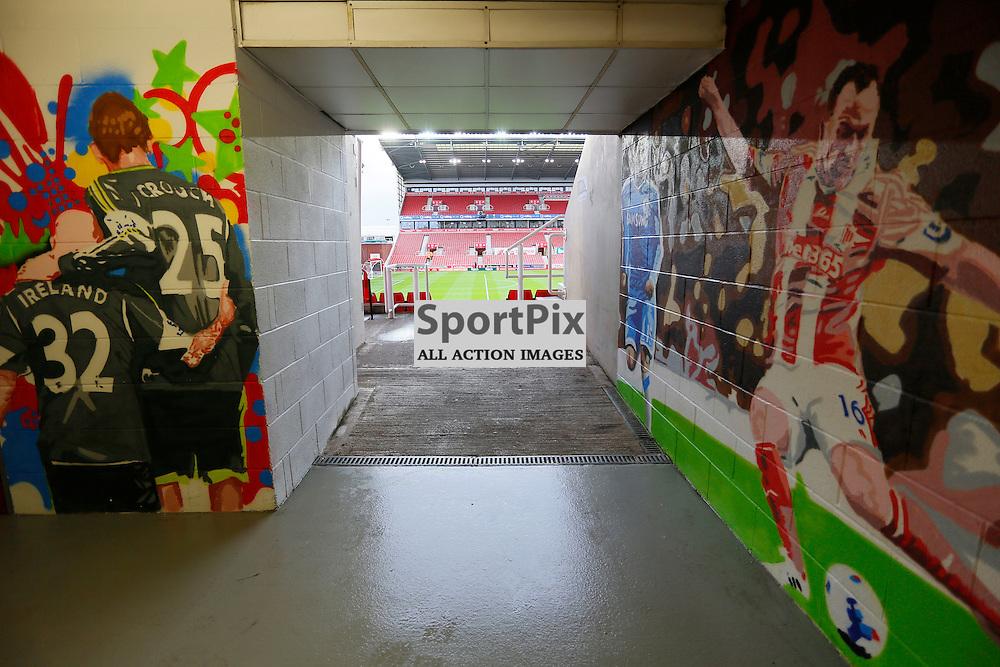 Inside the Britannia Stadium before Stoke City v Manchester United, Barclays Premier League, Saturday 26th December 2015, Britannia Stadium, Stoke
