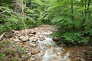 The Mad River drains from Greeley Ponds to Waterville Valley, in the White Mountain National Forest