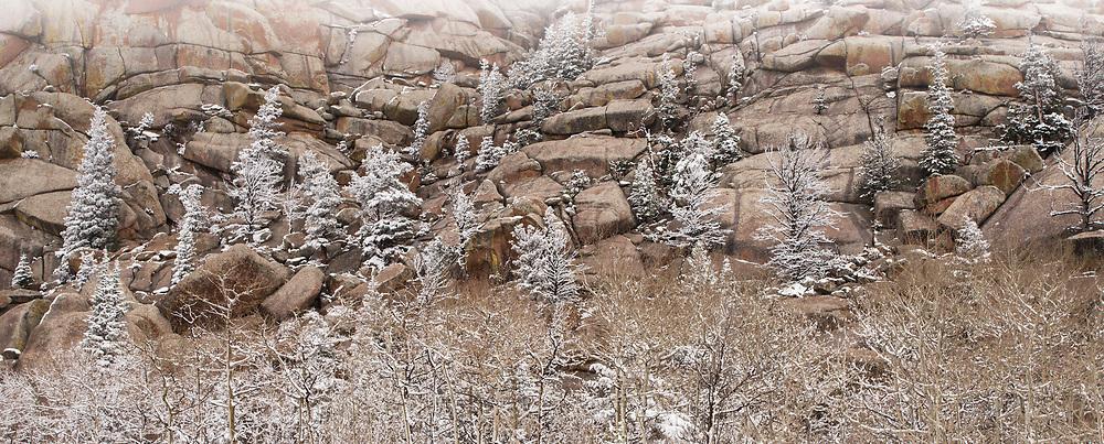 Spring snow at Vedauwoo
