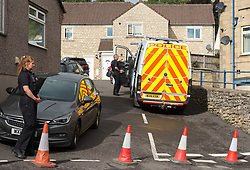 © Licensed to London News Pictures; 27/08/2020. FILE PICTURE dated 22/08/2020; Paulton, Bath and North East Somerset, UK. Police personnel search a house in Paulton after a man was arrested as part of an investigation by officers from Counter Terrorism Policing South East and South West. A 33-year-old man, Dean Morrice, has been charged with terrorism and explosive offences and will appear before Westminster Magistrates' Court today (27/08/2020) accused of two offences under Section 2 of the Terrorism Act 2006 – transmitting a terrorist publication. He is also charged with one offence under Section 58 of the Terrorism Act 2000 – possession of terrorist-related material. Morrice is further charged under Section 4 of the Explosive Substances Act 1883 of making or possessing an explosive substance in suspicious circumstances. The charges follow an investigation by Counter Terrorism Policing South East and Counter Terrorism Policing South West. Morrice was arrested on August 20 and searches were carried out at a property in Paulton, near Bath, Somerset. The man aged 33 was first arrested on Thursday (20/8) on suspicion of making or possessing an explosive substance in suspicious circumstances. He was then re-arrested on Friday (21/8) under section 41 of the Terrorism Act 2000 by detectives from Counter Terrorism Policing South East and South West. Officers carrying out this search are wearing protective suits due to the nature of this investigation and the Explosive Ordnance Disposal Team were called to the property as a precaution. Police have said there is no wider threat to the public. Photo credit: Simon Chapman/LNP.