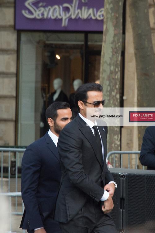 Emir du Quatar Sheikh Tamim bin Hamad al-Thani Obsèques de Jacques Chirac Lundi 30 Septembre 2019 église Saint Sulpice Paris