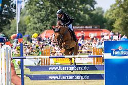 DREHER Hans-Dieter (GER), Prinz 1293<br /> Donaueschingen - CHI mit Europameisterschaft Gespannfahren 2019<br /> Großer Preis - S.D. Fürst Joachim zu Fürstenberg-Gedächtnispreis<br /> Preisgeld gegeben von BURGERGROUP, Straub-Verpackungen GmbH, Grimm Zuführtechnik sowie SDV Security<br /> Int. Springprüfung mit Stechen<br /> 18. August 2019<br /> © www.sportfotos-lafrentz.de/