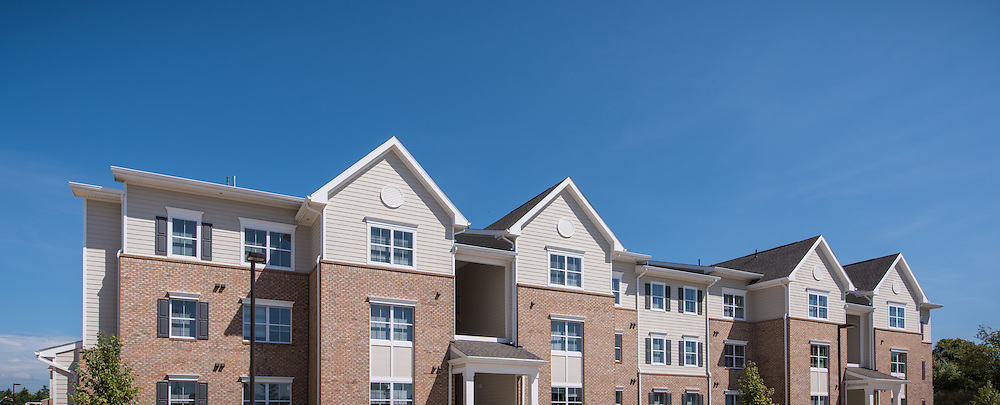 Exterior Image of Jefferson Crossing Apartments in Charlestown West Virginia by Jeffrey Sauers of Commercial Photographics, Architectural Photo Artistry in Washington DC, Virginia to Florida and PA to New England