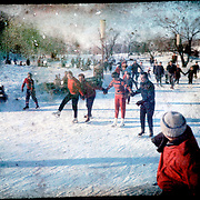 Children at play in winter