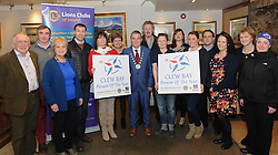 Pictured at the launch of Westport Lions Club 'Clew Bay Person of the Year' last week were members of Westport Lions, Cllr Brendan Mulroy Cathaoirleach of the West Mayo Municipal Authority, Iso Jorgenson and Mary Sheridan (Mayo Mountain Rescue), Neill O'Neill Mayo News and Anne Corcoran Castlecourt Hotel.<br />