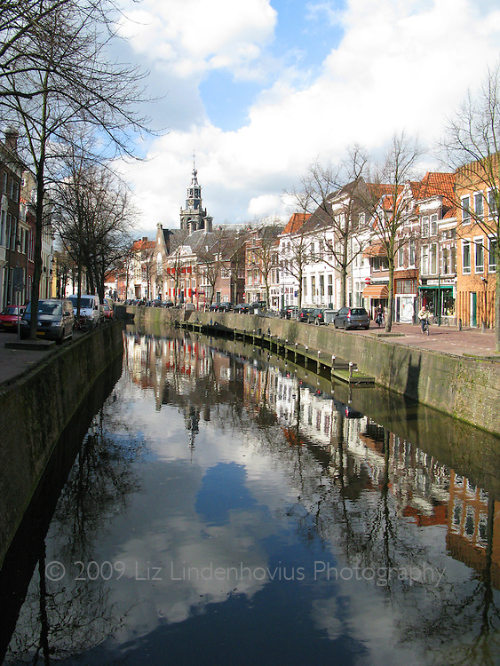 Canal in Gouda, Holland
