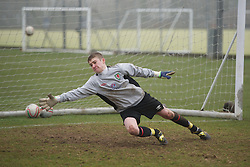 CARDIFF, WALES - Thursday, March 15, 2012: Wales U16's Keighan Jones (Hawarden High School) during a training session at the Glamorgan Sports Park. (Pic by David Rawcliffe/Propaganda)
