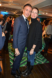 JOSEPH VELOSA and PLUM SYKES at the Duresta For Matthew Williamson Exclusive Launch At Harrods, Knightsbridge, London on 10th March 2016.