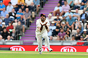 Wicket - Jasprit Bumrah of India takes the catch to dismiss Moeen Ali of England during the first day of the 4th SpecSavers International Test Match 2018 match between England and India at the Ageas Bowl, Southampton, United Kingdom on 30 August 2018.