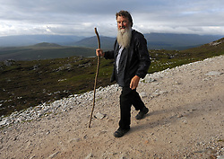 On the pilgrim's path …..Daniel O'Connell from Banagher Co Offaly was amoung the many that took part in the annual pilgrimage to Croagh Patrick yesterday.<br /> Pic Conor McKeown