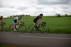 Hannah Barnes of CANYON//SRAM Racing leads the chase on Stage 1 of the Festival Elsy Jacobs - a 97.7 km road race, starting and finishing in Steinfort on April 28, 2018, in Luxembourg. (Photo by Balint Hamvas/Velofocus.com)