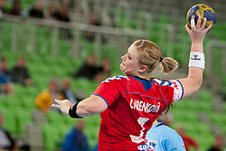 Chrenkova of Czech Republic during handball match between Women National Teams of Slovenia and Czech Republic of 4th Round of EURO 2012 Qualifications, on March 25, 2012, in Arena Stozice, Ljubljana, Slovenia. (Photo by Urban Urbanc / Sportida.com)