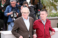 Ken Loach, Paul Brannigan, at The Angel?s Share photocall at the 65th Cannes Film Festival France. The Angel's Share is directed by Ken Loach. Tuesday 22nd May 2012 in Cannes Film Festival, France.