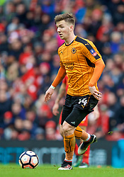 LIVERPOOL, ENGLAND - Saturday, January 28, 2017: Wolverhampton Wanderers' Lee Evans in action against Liverpool during the FA Cup 4th Round match at Anfield. (Pic by David Rawcliffe/Propaganda)