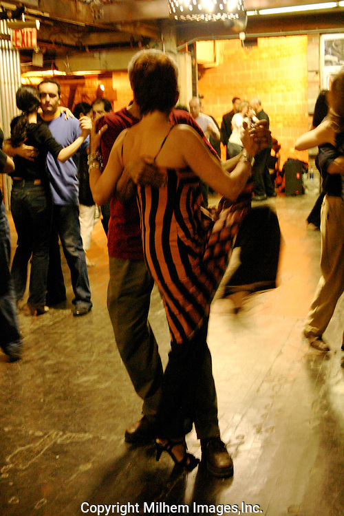 Tango dance lessons on a Saturday afternoon at the Chelsea Market, NYC.